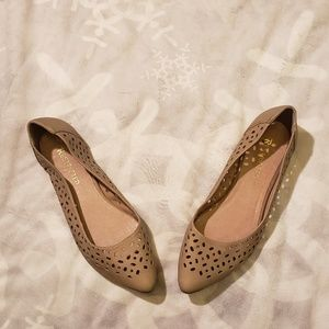 Restrictred Taupe Flats size 8